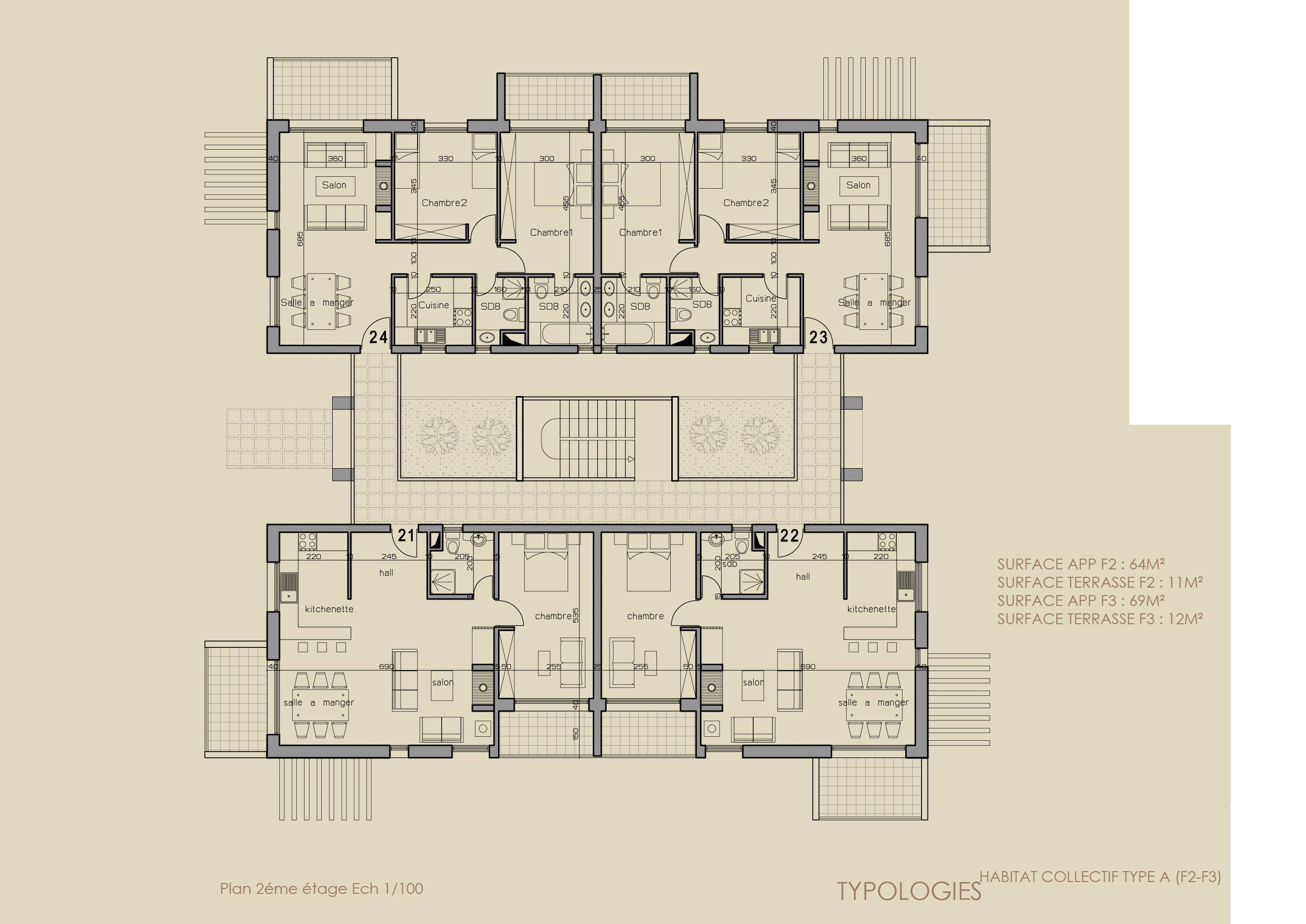 Plan Sdb 4m2 Conceptions Architecturales 28 Images Id