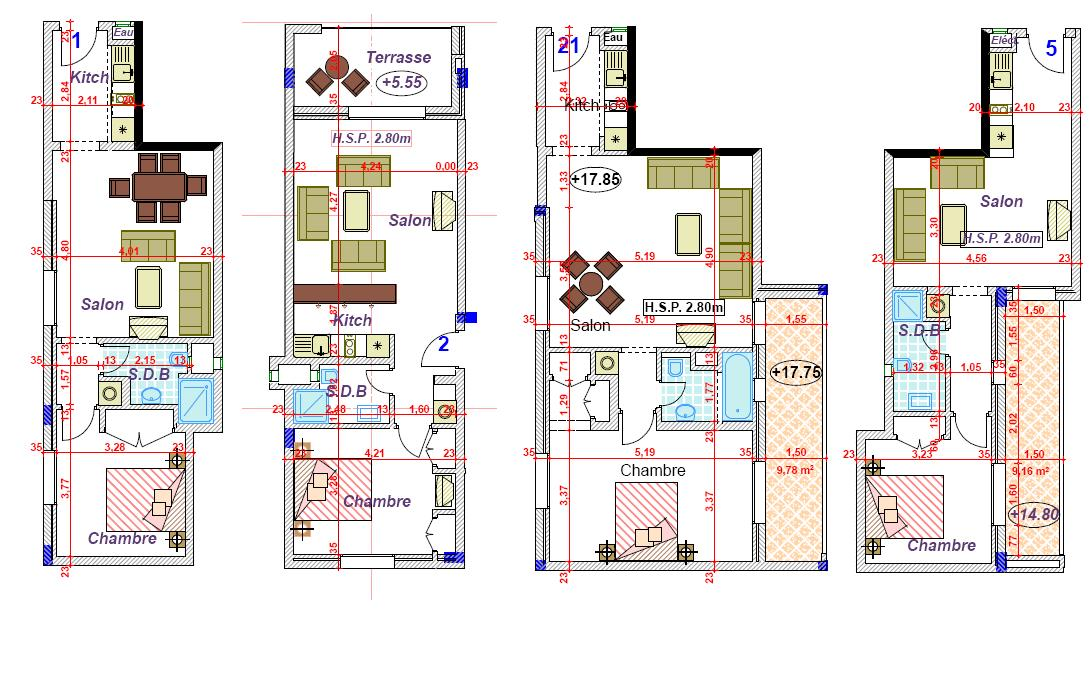 plan appartement grand standing