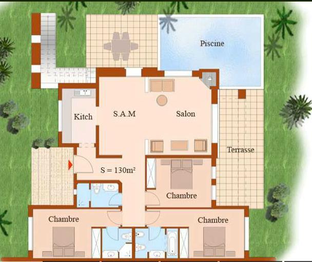 M2maroc villa jumel e 309m2 3 chs 3 sdb terrace - Description d une maison marocaine ...